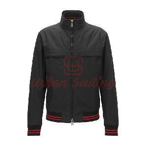 Regular fit Blouson Jacket in Technical Fabric