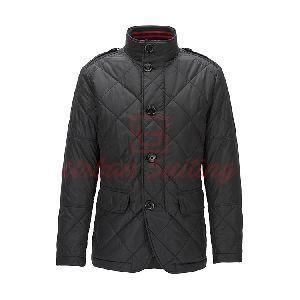 Regular Fit Jacket in Water Repellent Fabric Black