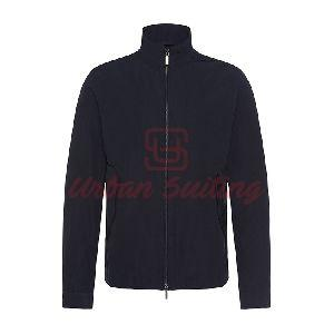 Water Repellent Jacket with Band Collar