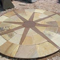 Garden Paving Circles (Compass 10' dia)