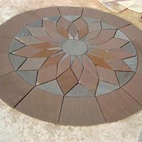"""Garden Paving Circles (Lotus """"A"""" 10' dia)"""