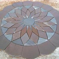"""Garden Paving Circles Lotus """"B"""" 10' dia"""