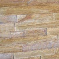 Teak Wood Sandstone Walling