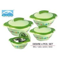 4 Pcs Plastic Insulated Casserole Set