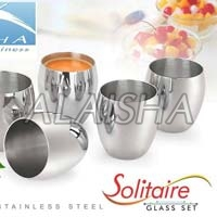SOLITAIRE Stainless Steel Glass Set