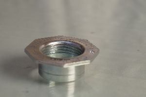 20 mm Hot rolled carbon steel flange with silver chromium passivation