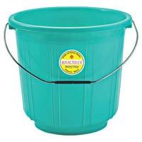 1107 Plastic Striped Bucket