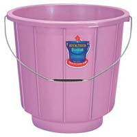 1116 Plastic Striped Bucket