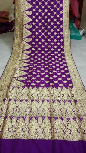 Traditional Banarasi Satin Silk Saree