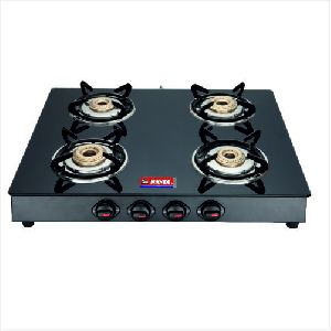 BL Nandi Four Burner Glass Top Gas Stove