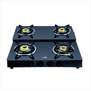 BL Step Nandi Four Burner Glass Top Gas Stove