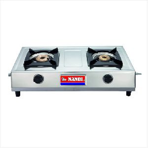 Cute Nandi Two Burner Stainless Steel Gas Stove