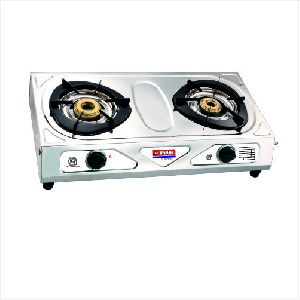 Popular Nandi Two Burner Stainless Steel Gas Stove