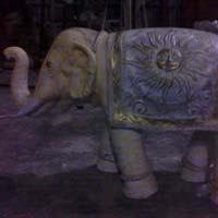 Wedding Fiber Elephant Statues