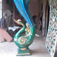 Wedding Fiber Peacock Statues