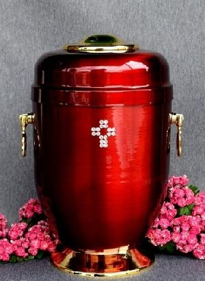 188199 Beautiful Brass Metal Cremation Urn