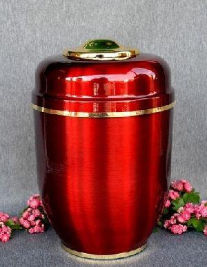 188203 Beautiful Brass Metal Cremation Urn