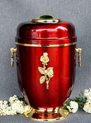 188205 Beautiful Brass Metal Cremation Urn
