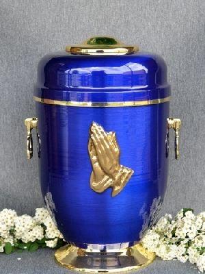 188206 Beautiful Brass Metal Cremation Urn