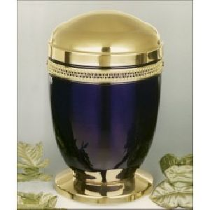 188298 Designer Brass Metal Cremation Urn