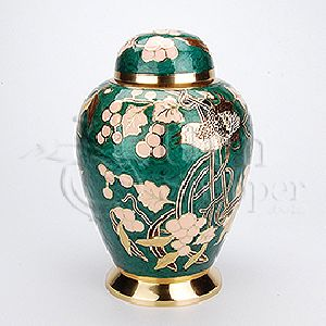 Alpine Brass Metal Cremation Urn