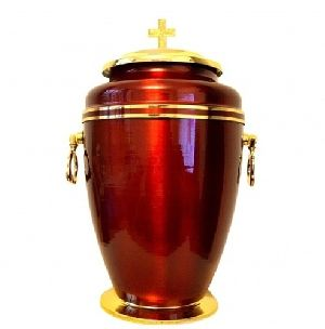 Beautiful Brass Metal Cremation Urn