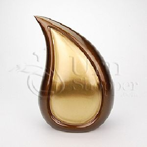Bronze Tone Teardrop Brass Metal Cremation Urn