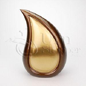 Bronze Tone Teardrop Brass Metal Cremation Urn