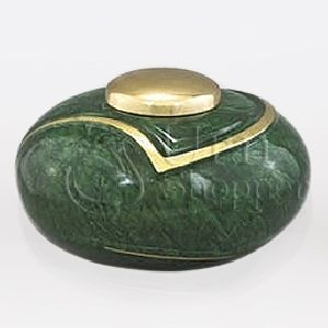 Luce IV Brass Metal Cremation Urn