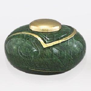 Luce IV Brass Metal Cremation Urn