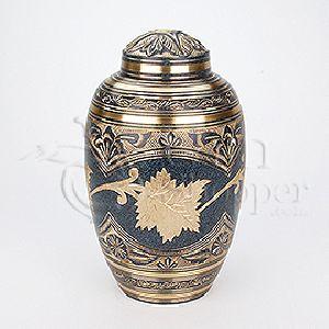 Marble Patina Brass Metal Cremation Urn