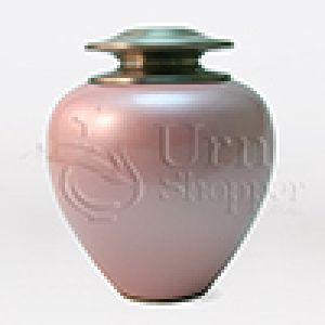 Satori Pink Pearl Brass Metal Cremation Urn