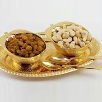 Brass Apple Shape Bowl with Spoon Gold Plated