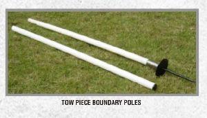 Two Piece Boundary Poles