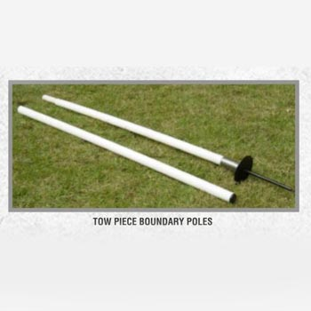 Two Piece Boundary Poles