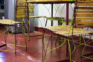 Bamboo Dining Table Set 01