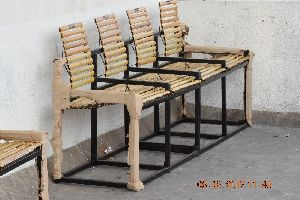 Bamboo Four Seater Bench 02