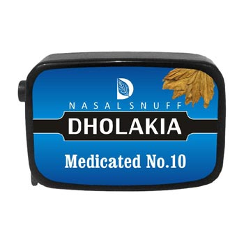 9 gm Dholakia Medicated No.10 Non Herbal Snuff