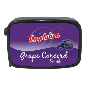 9 gm Temptation Grape Concord Non Herbal Snuff