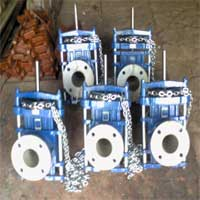 Chain Wheel Operated Pinch Valves