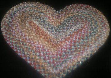 Heart Shaped Braided Mats
