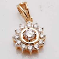 Diamond Gold Pendant (CWDP218)