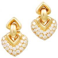 Diamond Heart Earring (CWDHE209)