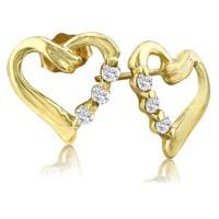 Diamond Heart Earring (CWDHE210)