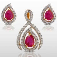 Diamond Pendant Set (CWDPS227)