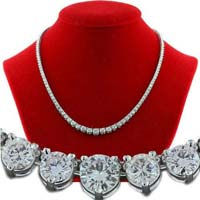 Diamond Solitaire String Necklace (CWDBGR002)