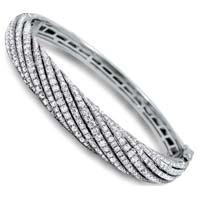 Diamond White Gold Bracelet (CWDWGB229)