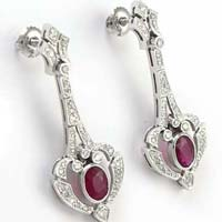 Diamond White Gold Earring (CWDWE213)