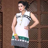 White Beauty Cotton Kurti