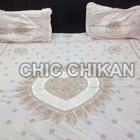 Chikan Embroidered Bed Sheet Set